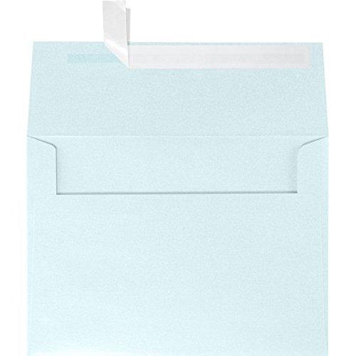 Aquamarine Invitation - A2 Invitation Envelopes (4 3/8 x 5 3/4) - Aquamarine Blue Metallic (50 Qty.)