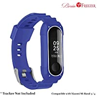 Brain Freezer Silicone Rugged Protective Accessories Strap Soft Bracelet Band Compatible with Xiaomi Mi Band 3/4 Smart Band (Tracker Not Included)