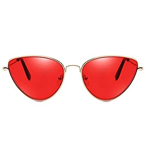 2018 new cat eye sunglasses ladies fashion glasses marine 9011 metal frame,Gold frame night vision yellow film