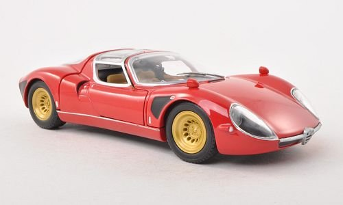 Alfa Romeo Tipo 33 Stradale Red 1967 Model Car Ready Made Whitebox 124