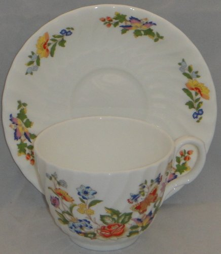 Aynsley Cottage Garden Footed Cup & Saucer Set