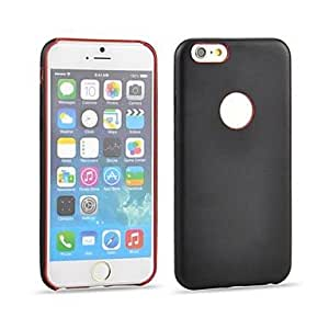 YULIN Angibabe Ultra-thin Protective Leather Back Cover Case for iPhone 6 (Assorted Colors) , Black and Red