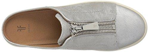 Lena Sneaker Mule Zip Women's FRYE Silver Metallic w6Iq5