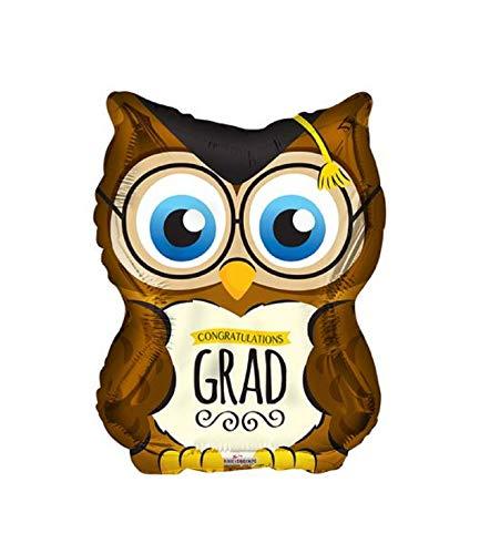 Congratulations Graduate Graduation Owl Shaped Party Balloon - Gift High School College Diploma Unique Cute Nerd Party Decoration