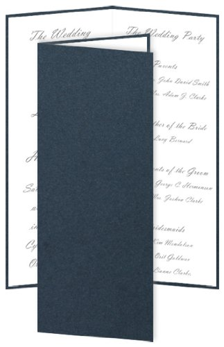 DIY Slim Wedding Program - Stardream Lapis Lazuli, 25 Pack