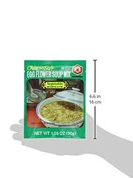 Kikomn Egg Flower Soup Mix, Vegetable, 1.05-Oz Pouches (Pack of 6)