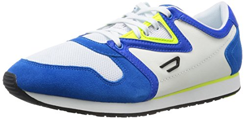 Diesel Mænds E-boojik Ankel-high Fashion Sneaker Hvid / Strålende Blå Qai7TF1c