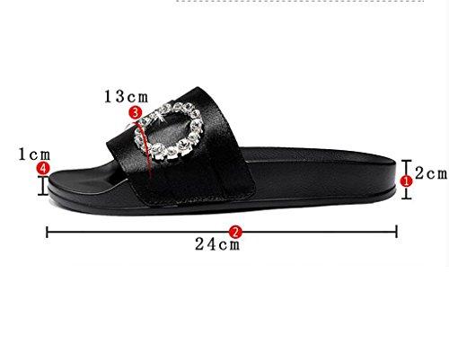 Pantofole per B spiaggia da ed Pantofole da donna Sandali Pantofole moda interni da alla FAFZ piatti Sandali antiscivolo B spiaggia 40 Colore sandali dimensioni indossare da esterni qxwngOcZCt