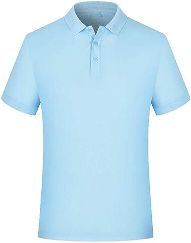 Polo Hombre Camiseta Manga Corta Talla Grande XXL Azul Claro ...