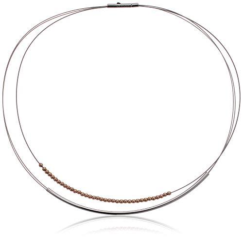 Skagen Women's Elin Two-Tone Wire Necklace, Multi, Size: - Wire Multi Necklace