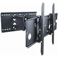 Monoprice Full-Motion Wall Mount Bracket for 32- 60 Flat Screen TV (LCD, Plasma, LED) - VESA Mount