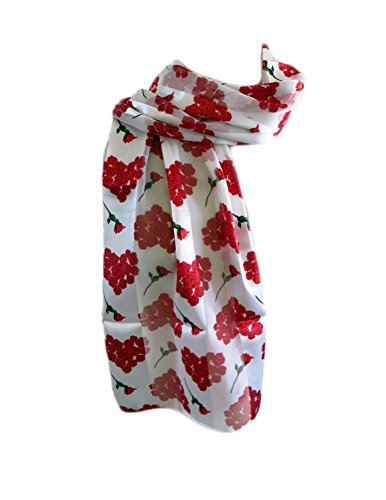 New Company Womens Valentines Day Hearts Scarf - White - One Size (white) (Valentine Hearts Ladies Scarf)
