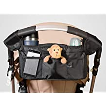 Sunny Brand Stroller Organizer - Must-Have for Parents On The Go - Enough Space for 2 Cups, Toys, Phones, Diapers, Keys, Snacks etc. - 2-in-1: Easily Converts Into A Bag with A Shoulder Strap
