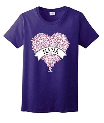 Grandma Heart Banner Ladies T Shirt