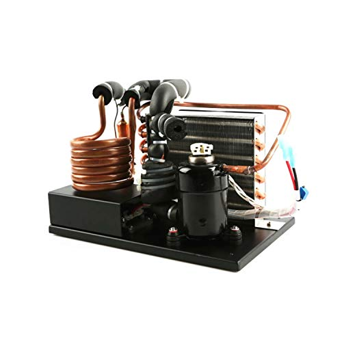 fenghz-Micro DC Aircon Cooling System Liquid Cooling System DC12V 106~360W Refrigeration System,Portable E-Copper Coil Liquid Chiller R134A Refrigerant Miniature Water Cycle Refrigeration