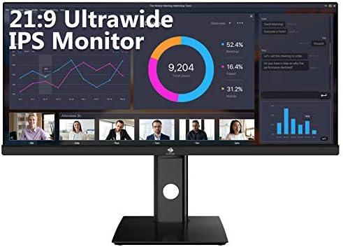 "Z-Edge U29IA 29"" Ultrawide Gaming Monitor 2560x1080 WFHD 21:9 Aspect Ratio 100Hz Refresh Rate 4ms MPRT IPS Monitor, HDMIx2+DP"