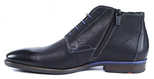 LLoyd Leto Schnürstiefelette schwarz blau Strech, Farbe:schwarz;Größe:44
