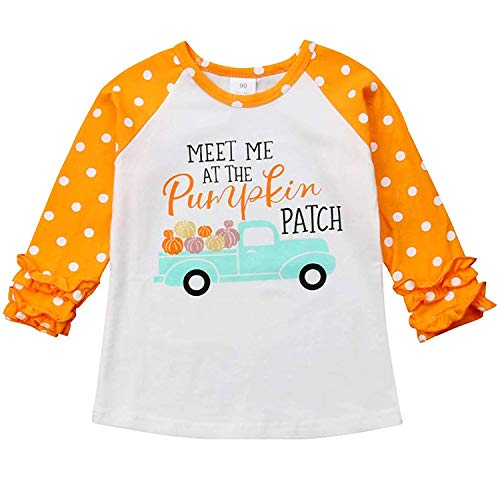 Halloween Toddler Kids Baby Girls Unicorn Pumpkin T-Shirt