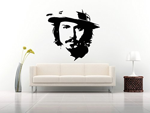 Johnny Depp Actor Wall Decals Stickers Mural Vinyl M0216