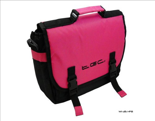 Carry Pink Hot iPad Trim Black Messenger for Bag Apple Style amp; Case Tablet New wSqxH0nAw