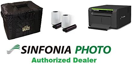 Sinfonia CS2 Photo Printer. Bundle with Our Exclusive Printerbag Carrying case and 1 Box of Sinfonia 4x6 Media kit Paper & Ribbon (600 Prints). Great for Photo Booth Business.