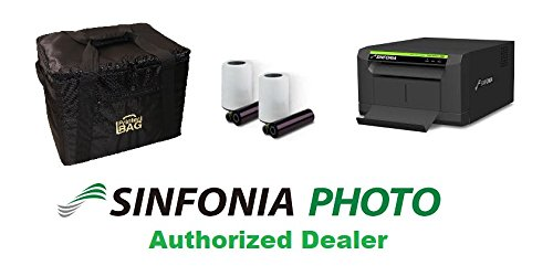 Sinfonia CS2 Photo Printer - BUNDLE - with a Printer Carrying Case (Printerbag brand) and a box of Sinfonia 4x6'' media kit paper & ribbon (600 prints). Great printer for photo booth business! by Sinfonia and Eventprinters