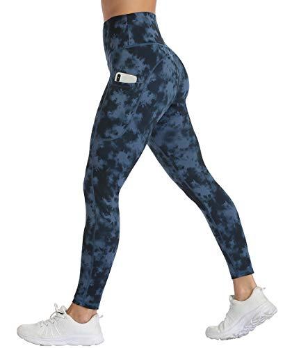 Non-See-Through Fabric UURUN High Waist Yoga Pants Printed Workout Running Tie Dye Leggings with Pockets