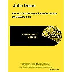 John Deere 210 212 214 216 Lawn Garden Tractor Ope