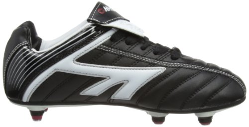 Hi-Tec League Si Jr - Con tacos de pvc niño negro - Black/White/Red