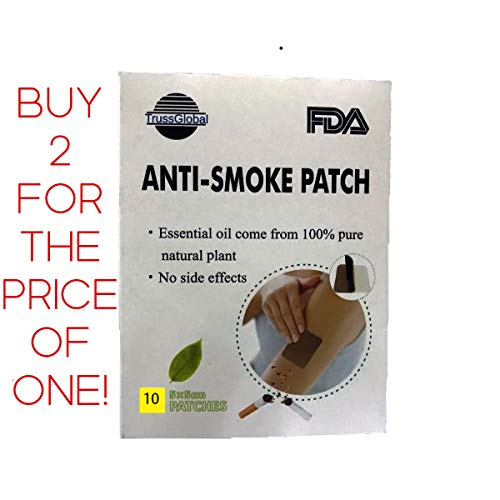 Trussglobal Organic Anti-Smoking Patch, Stop Smoking Aid Quit and Reduce Smoking in just 10 Days, Buy Two for The Price of ONE!