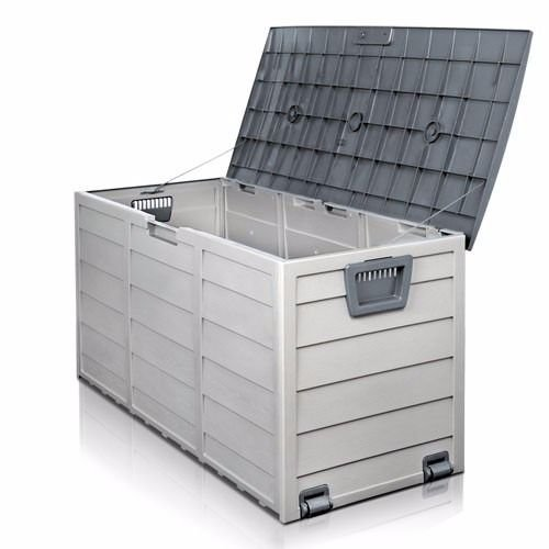 Nice1159 New Storage Large All Weather Resin Durable Patio Outdoor Deck Box Easy to Use Cabinet Container Organizer Size 43 X 20 X 17 Light Grey by Nice1159