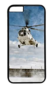 MOKSHOP Adorable Helicopter flight Hard Case Protective Shell Cell Phone Cover For Apple Iphone 6 (4.7 Inch) - PC Black