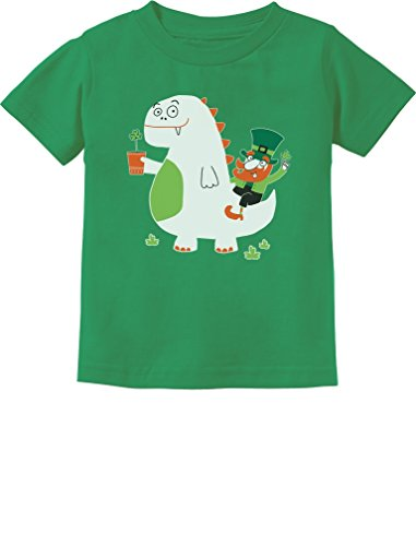 Tstars - St. Patrick's Day Leprechaun Dragon Clover Toddler Kids T-Shirt