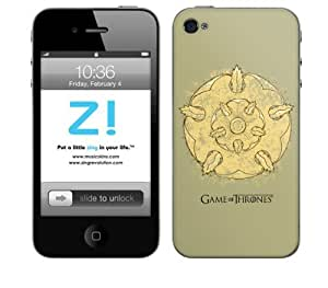 Zing Revolution Game of Thrones Premium Vinyl Adhesive Skin for iPhone 4/4S, Tyrell S2 Image, MS-GOT160133