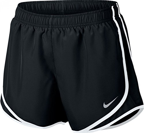 Nike Running Gear - Nike Women's Dry Tempo Running Short Black/White/Wolf Grey Size Medium