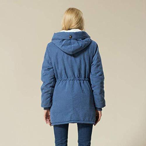 Outdoor Hiver paissir BoBoLily Spcial Elgante Chaud Outerwear Coat Manteau Style Mode Taille Femme Parka Manches Blau Blouson Longues Capuchon Hiver Dsinvolte Grande wqxrXq6AZ