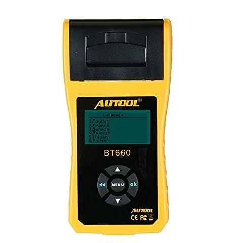 TuLanAuto 12V/24V Autool BT660 Battery Conductance Tester BT-660 Auto Battery Testers Automotive Diagnostic Tools For Heavy Duty Trucks, Light Duty Truck, (Bt Diagnostic)