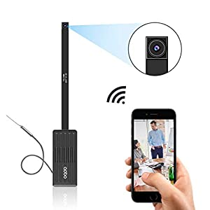 AOBO Spy Camera Wireless Hidden Nanny Cam Mini WiFi Security Camera of Home/Office/Apartment/Car 1080P HD Button Tiny Covert Cameras with Motion Detection/APP Live Stream for iPhone