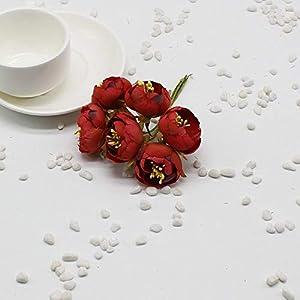 Vivavivo1234 Wreath Material Artificial Flowers Silk Artificial Flower Rose Bridal Bouquet Headdress Decorative 5 54