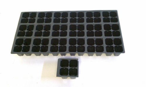 10 Plastic Seed Starting Trays - Each Tray Has 72 Cells ~ Cells Are 1 1/2'' Square X 2 1/4'' Deep.~ Can be separated ~ Great Propagation Trays ~ SHIPS AS HALF TRAYS by Nursery Supplies