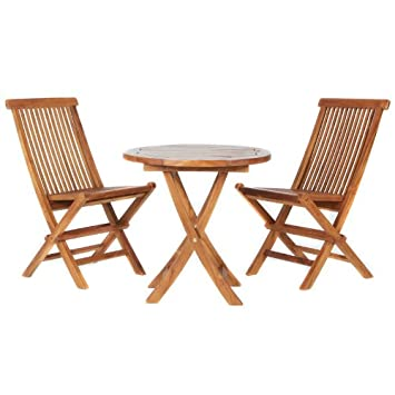 All Things Cedar TS26 Set Teak Bistro Set