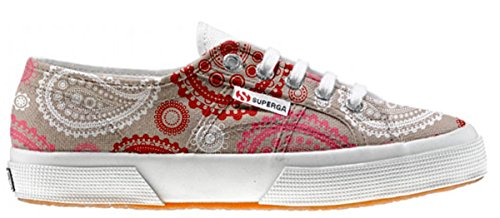 Superga Customized Chaussures Coutume Red Pink Paisley (produit artisanal)