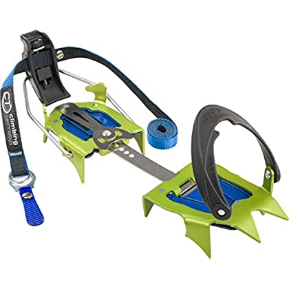 Image of Carabiners & Quickdraws Climbing Technology Snow Flex Semiautomatic, Unisex Crampon - Adult, Green, Adjustable Size