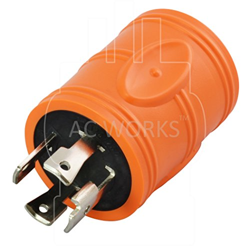 AC WORKS [ADL1430L1420] Locking Adapter 30Amp 4 Prong 125/250Volt L14-30P Locking Plug to L14-20R 20Amp 4Prong 125/250Volt Locking Female Connector Adapter by AC WORKS (Image #2)