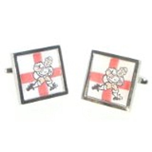 Gtr Men's Cufflinks X2Cc025 England George Cross Rugby Player One Size (Rugby Cross England)