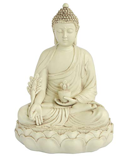 Ivory Colored Medicine Buddha Statue
