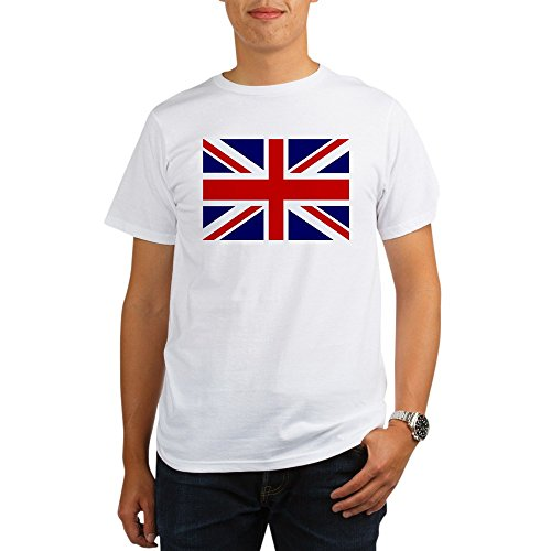 Royal Lion Organic Men's T-Shirt British English Flag HD - (British Organic Mens T-shirt)