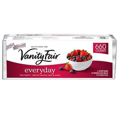 Vanity Fair Everyday Napkins, White, 660 Count