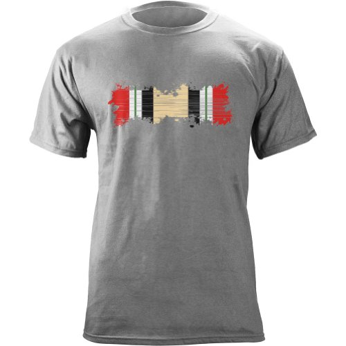 Distressed Campaign Ribbon Veteran T Shirt