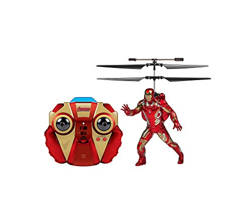 2 Channel Helicopter (World Tech Toys 2-channel Marvel Ir Helicopter With Action Phrases & Led Lights (iron Man) (pack of 1 Ea))